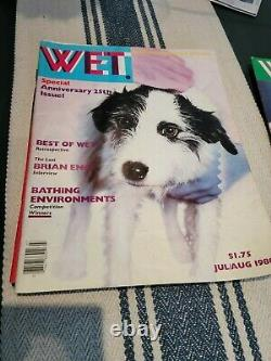 Lot of Wet Magazine Gourmet Bathing 7 issues 79-80 Good-fair cond. Free shipping
