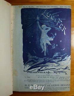 Lucifer Magazine H. P. Blavatsky Vol. 5 1889 (occult Hermetic Theosophy)