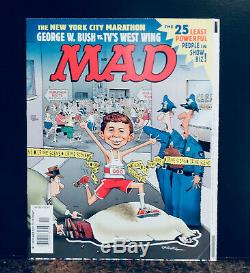 MAD Magazine #411 Original Caldwell Cover pulled due to the 9/11 tragedy RARE