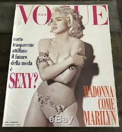 MADONNA VOGUE ITALIA MAGAZINE FEB 1991 COMPLETE SUPER RARE No Promo