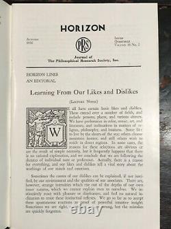 MANLY P. HALL HORIZON JOURNAL Full YEAR, 4 ISSUES, 1956 PHILOSOPHY OCCULT