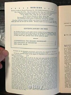 MANLY P. HALL HORIZON JOURNAL Full YEAR, 5 ISSUES, 1944 PHILOSOPHY OCCULT