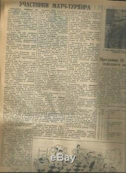 Magazine 64 Chess checkers newspaper 1936 Third Moscow international chess 1-20