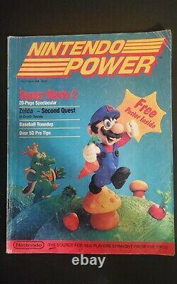 Magazine Issue of Nintendo Power Vol. 1 July/August 1988 Super Mario 2 No Poster
