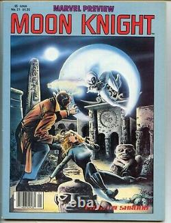 Marvel Preview #21 1980 First Full Moon Knight Solo Magazine SIENKEIWICZ F/VF