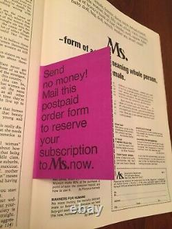 Ms. Magazine Preview Issue Spring 1972 Rare Good Condition