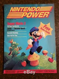NINTENDO POWER Vol. 1 First issue July/August 1988 Super Mario 2 Map Intact