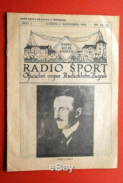 Nikola Tesla On Native Cover 1924 Ultra Rare Vintage Radio Club Magazine