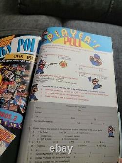 Nintendo Power Issue 1 Magazine With Poster and Inserts 1st Super Mario 2 1988