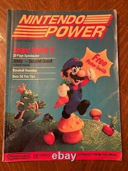 Nintendo Power Vol. 1 July/August 1988 Super Mario 2 Zelda Map Poster, complete