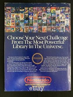 Nintendo Power Vol. 1 July/August 1988 Very 1st Issue withZelda Map Poster NICE