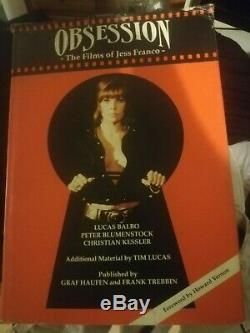 OBSESSION the Films of Jess Franco Book 1st edition