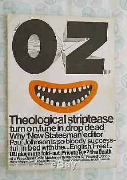 OZ MAGAZINE No. 1 with Martin Sharp poster EXCELLENT CONDITION