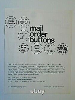 OZ MAGAZINE No. 4 with Oz Sheet No. 1 insert. Hapshash Gold poster. Martin Sharp