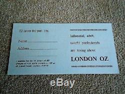 OZ MAGAZINE subscription form insert