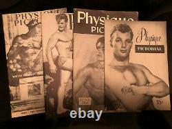 PHYSIQUE PICTORIAL near complete run Male Man Beefcake Physique Boy Gay Interest