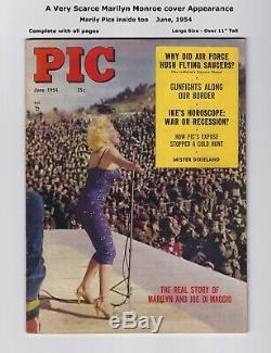 PIC Magazine RARE MARILYN MONROE COVER! HIGHER GRADE 1954