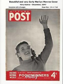 PICTURE POST 1947 VERY EARLY MARILYN MONROE COVER by Andre de Dienes