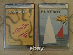 PLAYBOY December 1953 (CGC 7.5) + 1954 Playboy CGC Full Year Set Collection