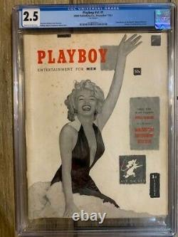 PLAYBOY MAGAZINE December 1953 (CGC 2.5) with MARILYN MONROE 1st Issue V1 #1 HMH