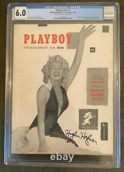 Playboy #1 December 1953 #v1 #1 CGC 6.0 Signed by Hugh Hefner