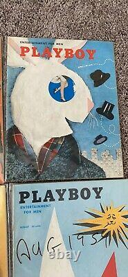 Playboy's magazines 1954 Full Year Set, Very Good condition, All Center Folds