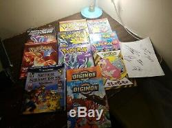 Pokemon Cards Binders Magazines pins coins game mats autographs (some digimon)