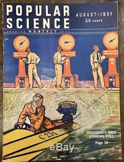 Popular Science Aug 1931 Auguste Piccard 10 Miles High Air Balloon Flat Earth