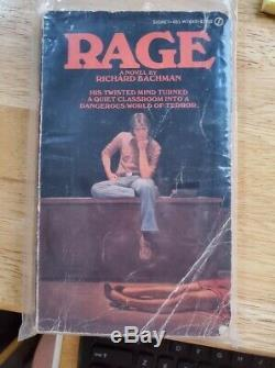 RAGE by Richard Bachman FIRST PRINTING 1977, as Bachman (aka Stephen King)