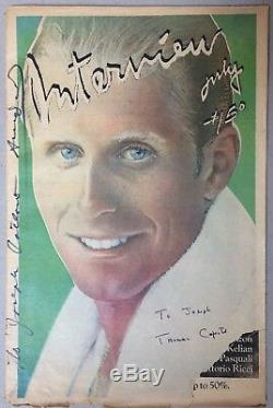 RARE Interview Magazine July 1979 SIGNED BY ANDY WARHOL and TRUMAN CAPOTE