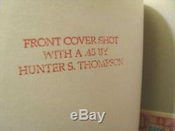 RARE LTD/ED HUNTER S. THOMPSON 1995 X-RAY MAGAZINE #4 with THOMPSON SHOT PHOTO
