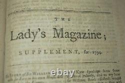 Rare The Lady's Magazine or Entertaining Companion Vol 25 Year 1794