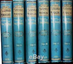 SHERLOCK HOLMES genuine 1st Editions Conan Doyle in STRAND MAGAZINE. Vols 1 6