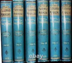 SHERLOCK HOLMES genuine 1st Editions Conan Doyle in STRAND MAGAZINE. Vols 1 to 6