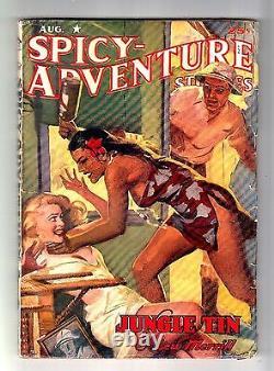 SPICYADVENTURE STORIES August 1942 (Diana Daw cartoon by Clayton Maxwell)