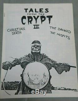 TALES FROM THE CRYPT #3 1982 fanzine MISFITS Christian Death DAMNED very RARE