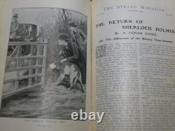 The Return of Sherlock Holmes in two year 1st Edition Strand Vols (25&26+27&28)