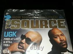 The Source Magazine UGK COVER PIMP C BUN B SEALED! RARE OOP TEXAS RIP DJ SCREW
