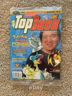 Top Deck Vol. 1 Issue 1, Dec. 1999 with Magic Pack and Pokemon Card Sealed
