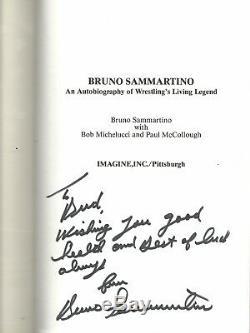 VERY RARE Bruno Sammartino Signed Wrestling Autobiography withCOA