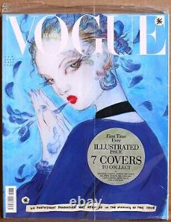 VOGUE ITALIA Jan 2020 SEALED MINT MINT MINT! ILLUSTRATED ISSUE Collector Cover