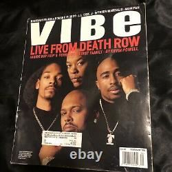 Vibe Magazine February 1996 Live From Death Row Tupac Dre Snoop Suge