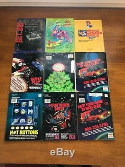 Vintage Nintendo Power Magazine 15 Issues Lot Posters Iron On Cards 80s 90s RARE