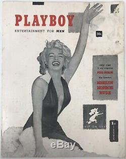 Vintage Original 1953 First Issue #1 Playboy Magazine Marilyn Monroe CGC 3.5