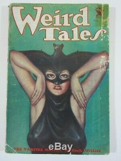 WEIRD TALES October 1933 10/33 Robert E. Howard Iconic Brundage Batwoman Cover