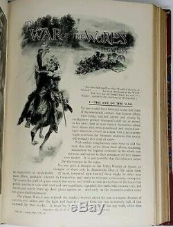 War Of The Worlds Rare 1st Edition In 2 Vols Pearson Magazine 1897