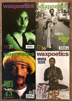 Wax Poetics Magazine Lot Issues 1-13, 31, 36, 39, 43 ALL ORIGINAL 1ST EDITIONS