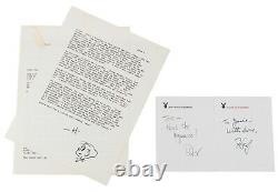 World's Only Playboy Magazine With 2 Hugh Hefner Autograph & 2 Hh Cartoons Cgc