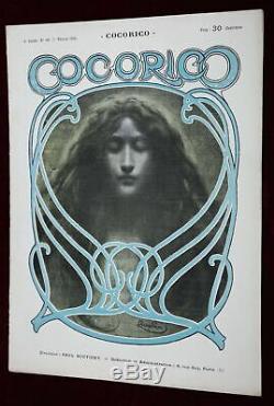Xrare Orig' 1901 Frantisek Kupka Lithograph Cocorico Art Nouveau Magazine Beauty