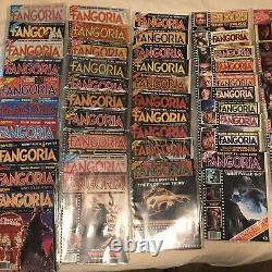 110 Numéro Lot- #1 À Travers 110 Fangoria Magazine Collection- Zombies Monsters Aliens